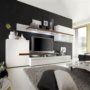 Designer Moebel Einrichtung Modern Wohnwand Anbauwand Schrankwand Gogo In Wei 223 Walnuss