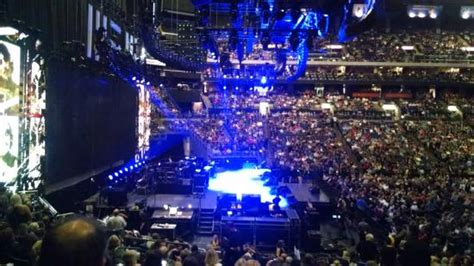 Verizon Center Floor Plan view from our seats in section 117 row v side view good
