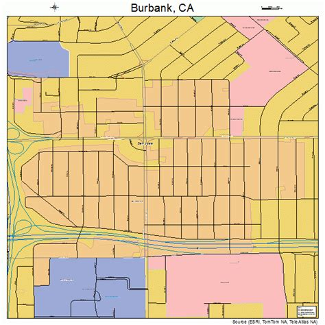 california map burbank burbank california map 0608968