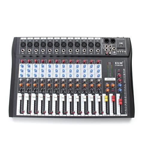 mixer console ct 120s 12 channel professional live studio audio mixer