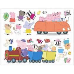 fun4walls peppa pig wall stickers stikarounds sa10506 my first jcb stikarounds 28 stickers room decoration ebay