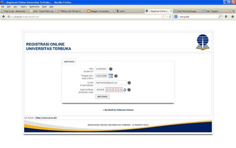 cara aktivasi tutorial online ut cara aktivasi account pengguna registrasi online program