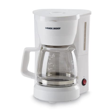 White Coffee 1 Renteng black decker dcm600w white 5 cup coffee maker