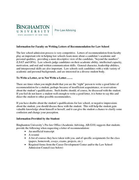 Sample Recommendation Letter From Employer For Law School
