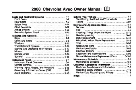 service manuals schematics 2011 chevrolet aveo electronic valve timing 2008 chevrolet aveo owners manual just give me the damn manual