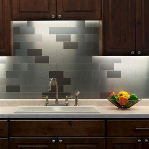 Peel And Stick Backsplash For Kitchen Peel And Stick Stainless Steel