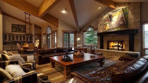 Black White Bathrooms Ideas by Corner Fireplace Vaulted Ceiling Luxury Mansion Living