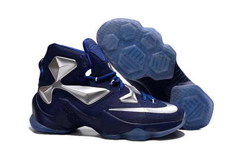 cheap lebron basketball shoes cheap nike lebron 13 blue metallic silver basketball