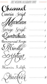 free 40 fonts for diy printable wedding invitations channel typography fonts