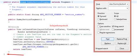 tilan layout presentasi pada menu view cara membuat menu tab swipe pada aplikasi android part 2