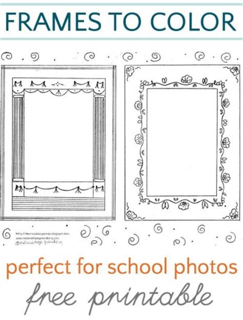 how to frame a print school frame coloring pages
