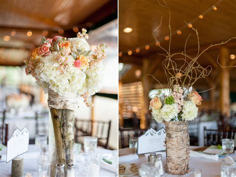 Inspired By Nature A Wedding At Grand Lake Lodge Ja Birch Wedding Centerpieces