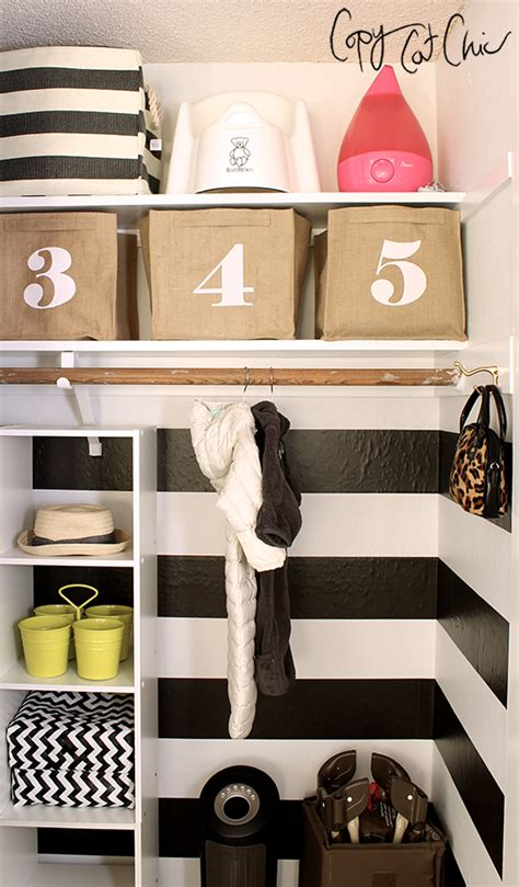 Chic Closets by Copy Cat Chic Ranch House Redo A Shared Nursery Closet