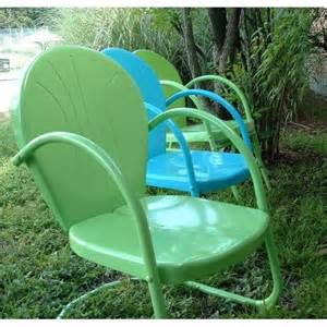 retro metal patio furniture lime retro metal lawn chair summer colors