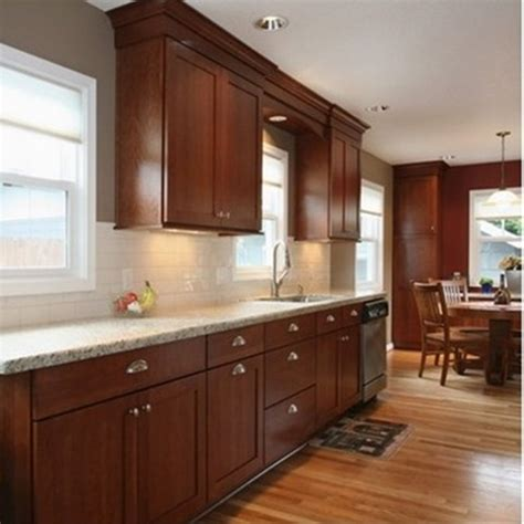 Cherry And White Kitchen Cabinets by Best Granite Countertops For Cherry Cabinets