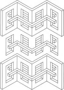 Free Coloring Pages Of 3d Geometric Designs 3d Coloring Pages