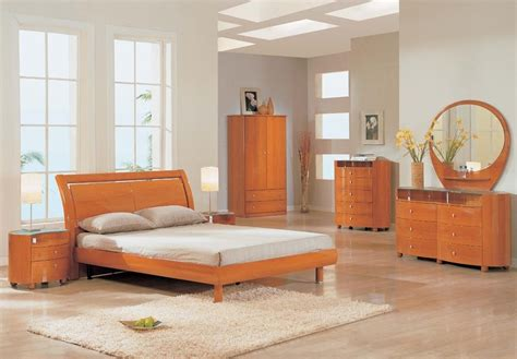 emily bedroom set cherry emily contemporary slat bedroom set
