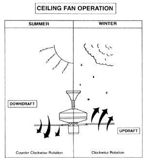 Ceiling Fan Switch Position For Summer by Fan Popsugar Tech