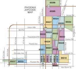 Phx Zip Code Map by Zip Codes In North Phoenix Map