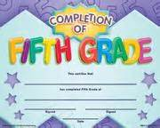 5th grade graduation certificate template completion of fifth grade fit in a frame award award