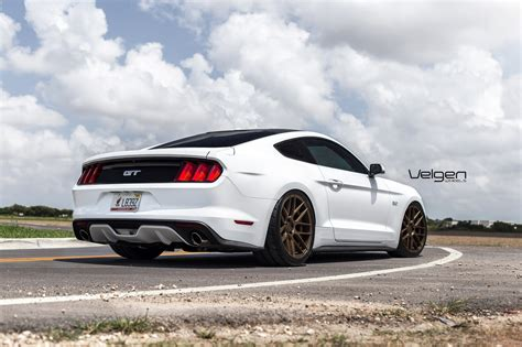 white mustang oxford white mustang gt velgen wheels vmb7 satin bronze