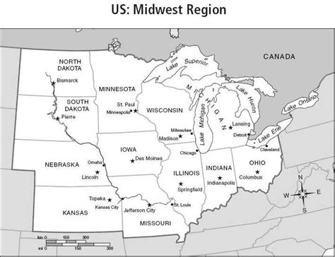 blank map of us midwest region labelmidwest gif