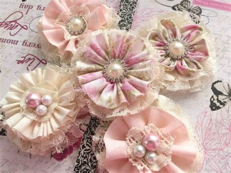 Handmade Flowers From Fabric - pinkyjubb weddbook