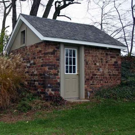 garden shed brick built nice place   office