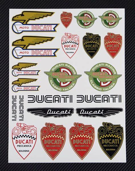 Ducati Sticker Logo by Ducati Classic Retro Old Logo Moto D 233 Calque Autocollants 224