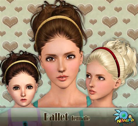 ponytailsims 4 child newsea ballet female hairstyle