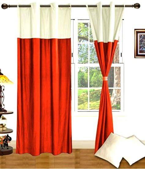 orange white curtains iws orange white plain polyester eyelet curtains 2 pcs