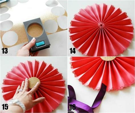 How To Make Decorative Paper Fans - 25 best ideas about paper medallions on paper