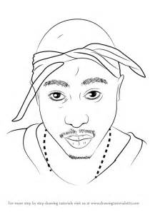 2pac Outline by Learn How To Draw 2pac Rappers Step By Step Drawing Tutorials