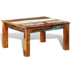Reclaimed Coffee Table Reclaimed Wood Coffee Table Square Antique Style Vidaxl