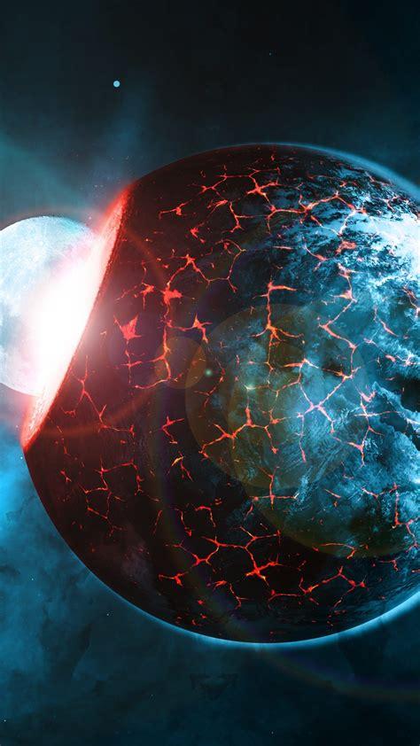 planet impact  uhd wallpaper
