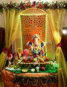 ganpati home decoration gharse