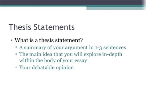 what is a thesis statement and why is it important what is a thesis statement and why is a claim