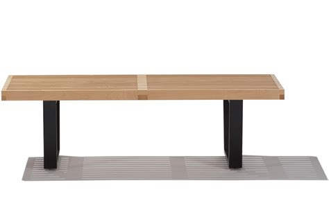 herman miller bench george nelson platform bench with wood base hivemodern com