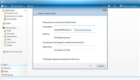 Microsoft Live Login Windows Live Mail Look The Layout And Interface Of
