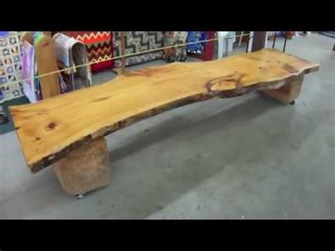 bench made out of tree trunk how to make an easy tree bench youtube