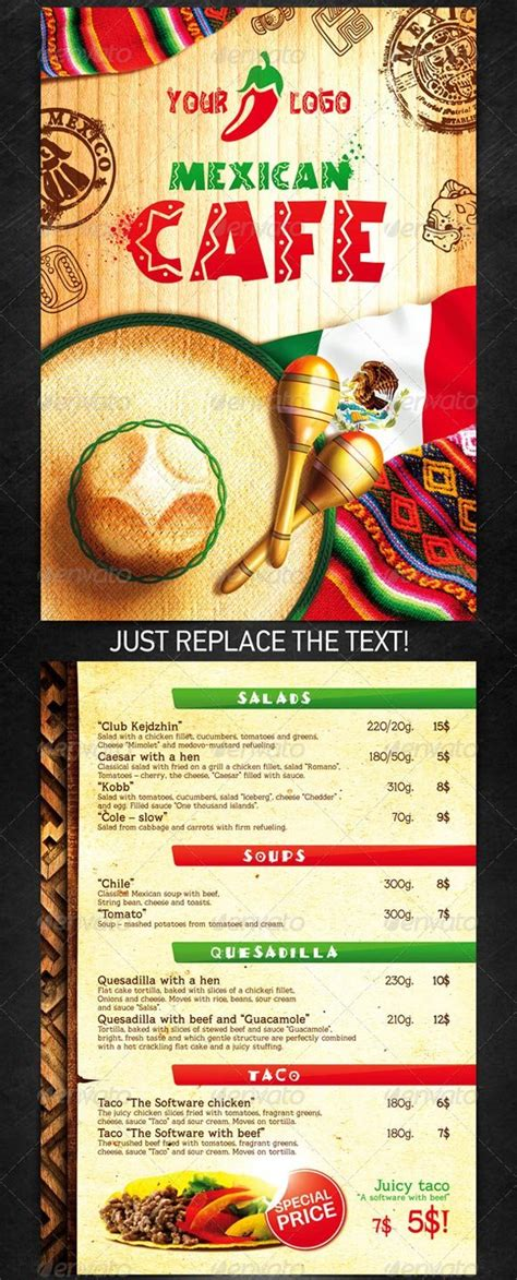 mexican food menu template 65 best restaurant food menu templates psd indesign