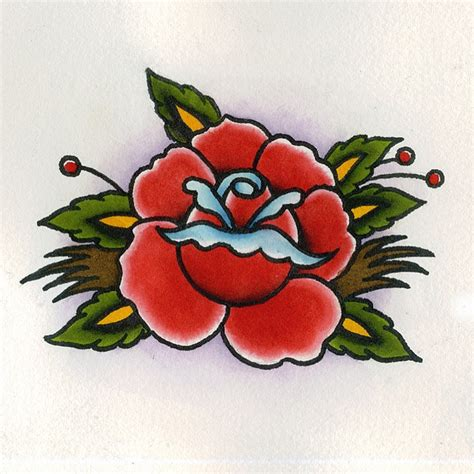 traditional rose tattoo flash the world s catalog of ideas