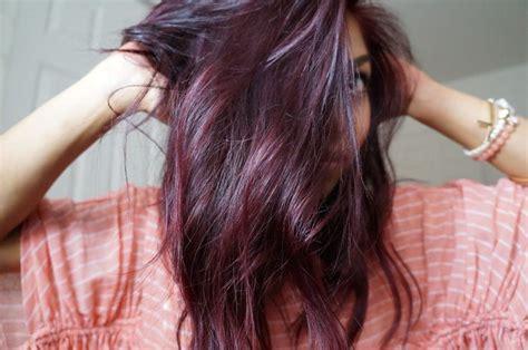 diy highlights for dark brown hair plum highlights on brunette hair teaseblendglam beauty