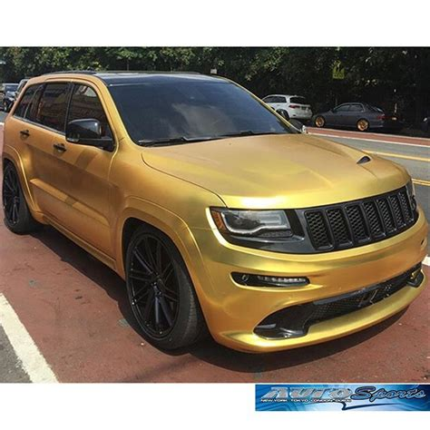 gold chrome jeep jeep grand wrapped in arlon upp satin gold chrome