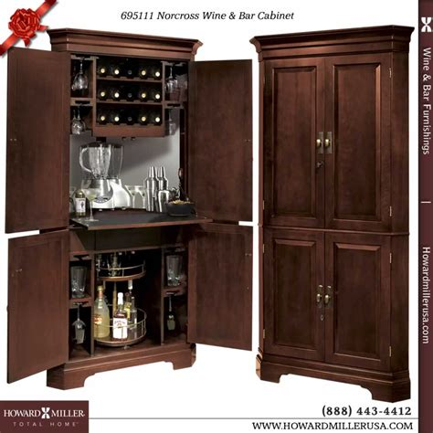 wine and bar cabinet 695111 howard miller wine bar corner cabinet in cherry