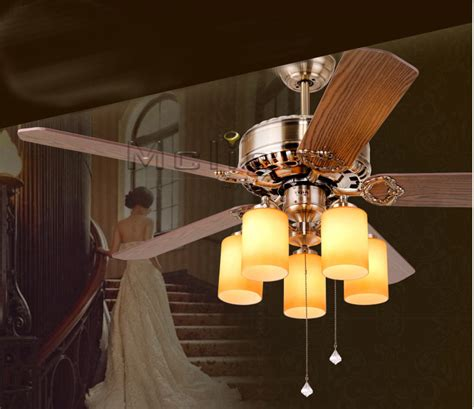 dining room lighting fixture lighting ceiling fans new arrival retro ceiling fan lights 5 blades 52 inches