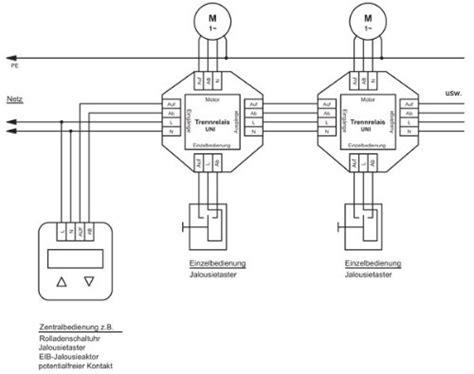 jalousie trennrelais schaltplan 3 rollladen koppeln homematic forum fhz forum