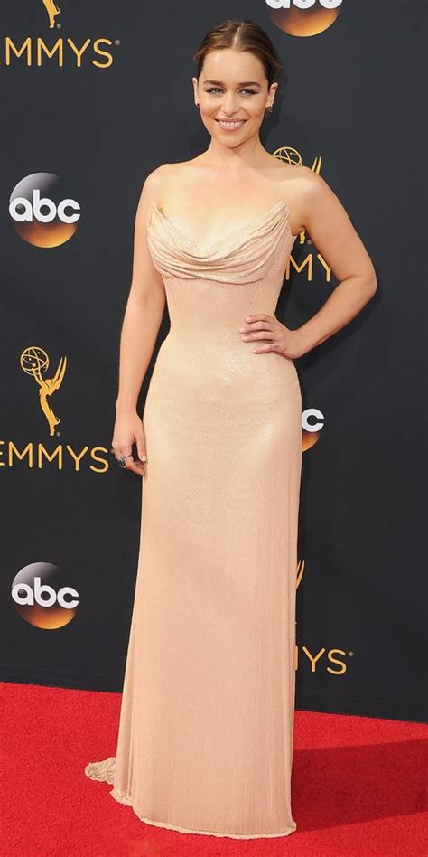 see emilia clarke s best red carpet looks instyle com