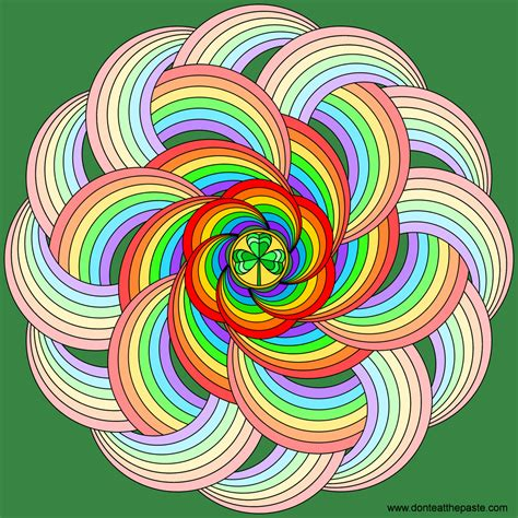 rainbow mandala coloring pages don t eat the paste rainbows for st patrick s day