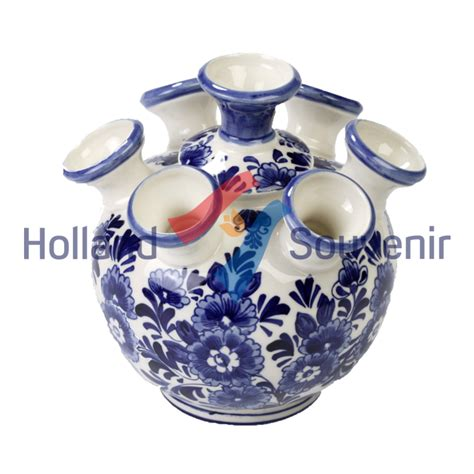 Delft Blue Tulip Vase delft blue tulip vase flower design souvenir